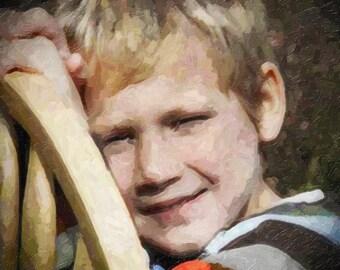 Custom Children Oil Painting Canvas 16x20