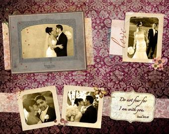 Custom Vintage Wedding Photo Gift on Canvas 16x20