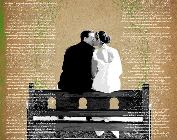 Custom Wedding Decoration Or Anniversary Canvas Gift Vows Poem Lyrics 16x20