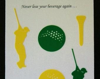 Glass Tatz - Golf (drink marker, vinyl cling)