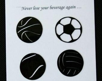 Glass Tatz - Sports Fan (drink marker, vinyl cling)