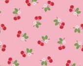 Riley Blake Sew Cherry Fabric Pink 1 yard