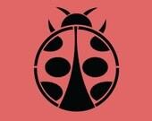 STENCIL Ladybug 3x4