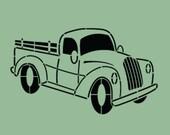 STENCIL Vintage Truck 10x6