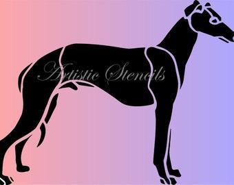 STENCIL Greyhound Dog   8 X 10