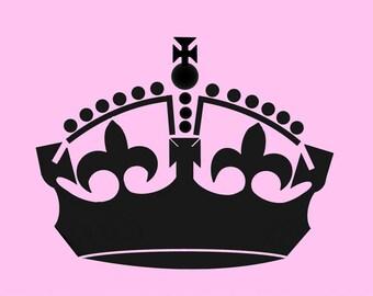 STENCIL Royal Crown 8x10