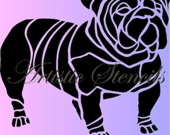 Bulldog STENCIL 10 X 10