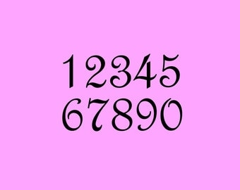 STENCIL 2 Inch French Script Numbers