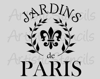 STENCIL French Jardins de Paris - Gardens of Paris 10x12