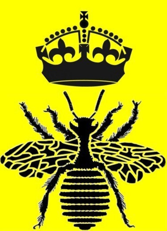 Napoleon 39 S Bee With Crown Queen Bee Reusable By Artisticstencils