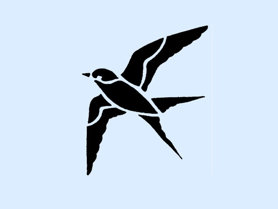 Articles similaires oiseau en vol au pochoir 4x4 7 sur etsy for Pochoir oiseau
