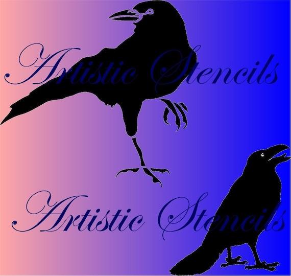 STENCIL 2 Crows  9 X 9