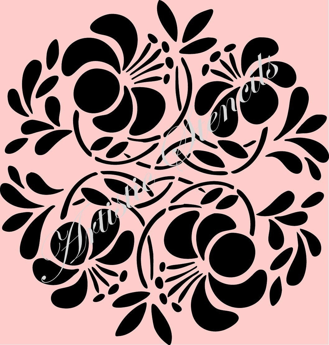 Vintage Floral Flower Wallpaper Background Reusable Stencil 4 HD Wallpapers Download Free Images Wallpaper [1000image.com]