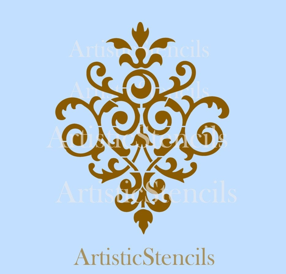 stencil damask wallpaper background no 37 6x5 by