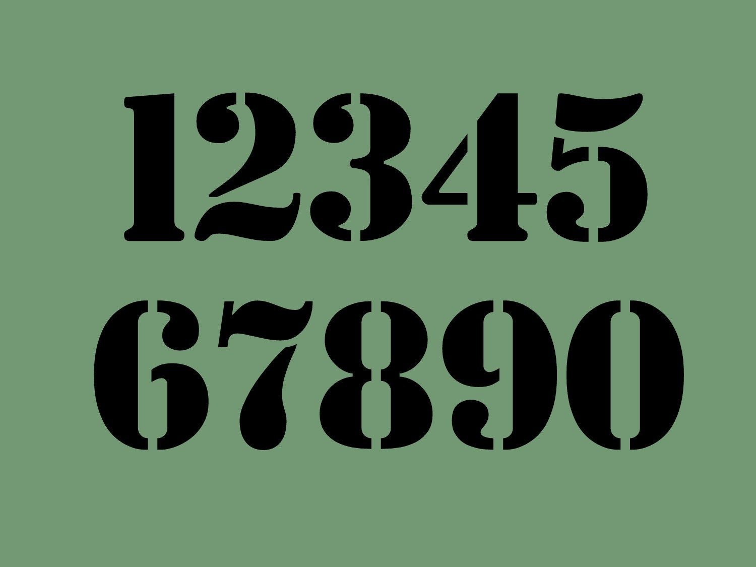 STENCIL 3 Inch Chunky Bold Numbers Set