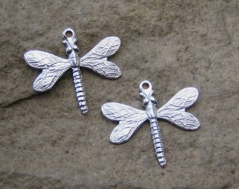 Silver Plated Dragonfly's with One Ring Qty 69
