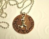 Handstamped Running Necklace