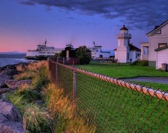 Sunset Photography - Photo Art - Lighthouse -  Photography -  Mukilteo Landing - 16 X 24 -  Prints