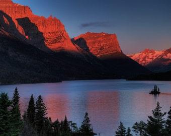 Photo Art - Fine Art Photography - Lake St Marys - Glacier Naional Park - 8 x12 prints