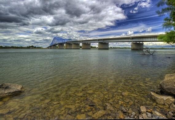Bridge Photography - Bridges - Landscapes - Columbia River, Bridge - 12 X 18 - Prints