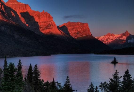 Photo Art -  Landscapape Phototgraphy - Glacier Naional Park - Fine Art Photography - 16 x 24 -  Prints