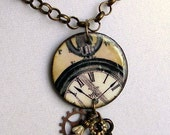 Clock Necklace,Watch Gear,Industrial Jewelry