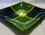 DERAILED Kiln-Formed Artisan Fused Glass Dish