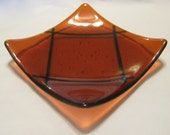 Coral Corral Kiln-Formed Artisan Fused Glass Dish