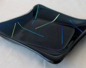 Deepest Blue Kiln-Formed Artisan Fused Glass Dish