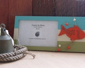 GOLDFISH POND Picture Frame for 4x6 Photo