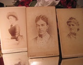 Antique CDV Trio of Lovely Victorian Ladies       A2
