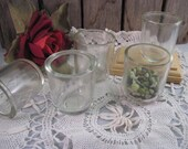 Glass Fuel Sediment Bowl or Cup Lot of 5