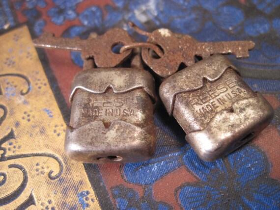 Vintage Tiny Reese Padlocks with Keys