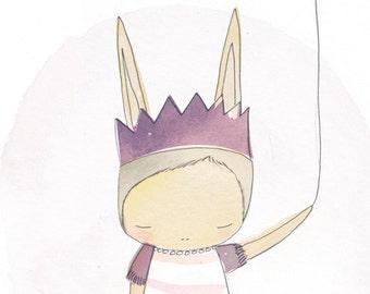Fairy Tale Decor - Bunny Ballerina With Balloon