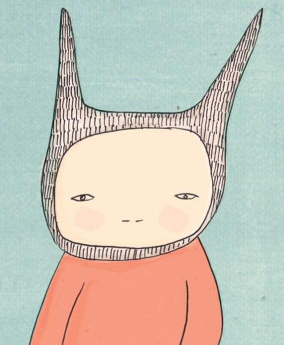 Nursery Art Print - Mr Rabbit and Fred Illustration