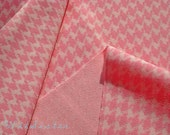 SEW 60s Sweet PINK Houndstooth Woven Synthetic KNIT Knit Vintage Fabric