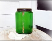 vtg owens illinois green hoosier sugar canister by montanasnowvintage