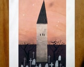 Graveyard Print A4