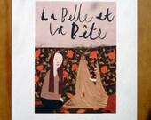 La Belle Et La Bete Print 6X8