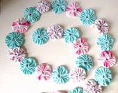 Yo Yo Garland Party decor Weddings Baby Shower Tea Parties