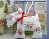 Shabby Chic Scottie Dog Decoration Cath Kidston Fabric