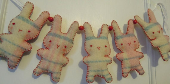 Pastel Bunny Garland Decoration