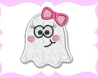 Lil' Girly Ghost Applique