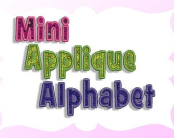Mini Applique Alphabet Machine Embroidery Design