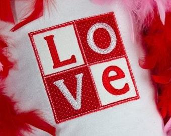 Love Applique Machine Embroidery Design