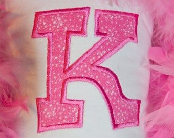 Kylie Applique Alphabet Machine Embroidery Designs - 3 Sizes