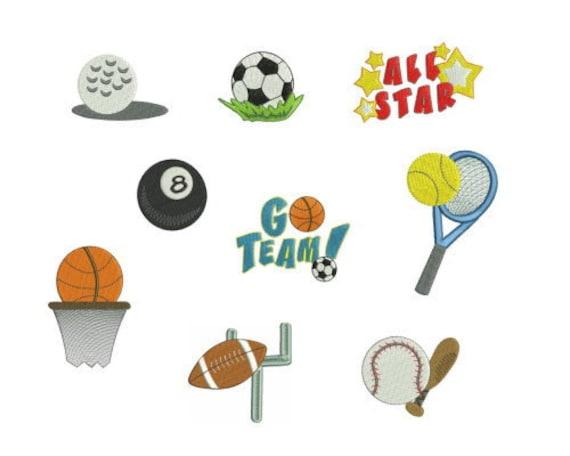 machine embroidery sports designs