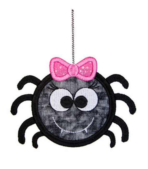 Spider Applique Embroidery Design