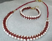 Everafter Pearl & Ruby Red Beadwoven Set