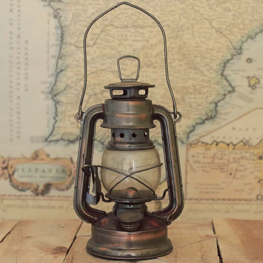 Antique Brass Train Railroad Lantern